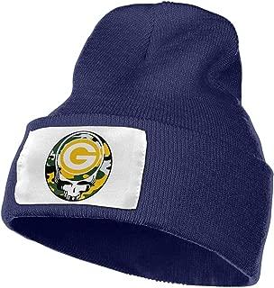 Green Bay Packers Winter Warm Knit Cuff Beanie Skull Cap Daily Beanie for Men & Women,Black,