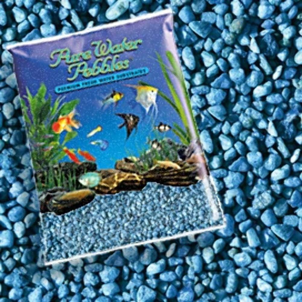Bargain Pure Water Pebbles Aquarium Neon Blue Gravel 25-Pound Popular popular