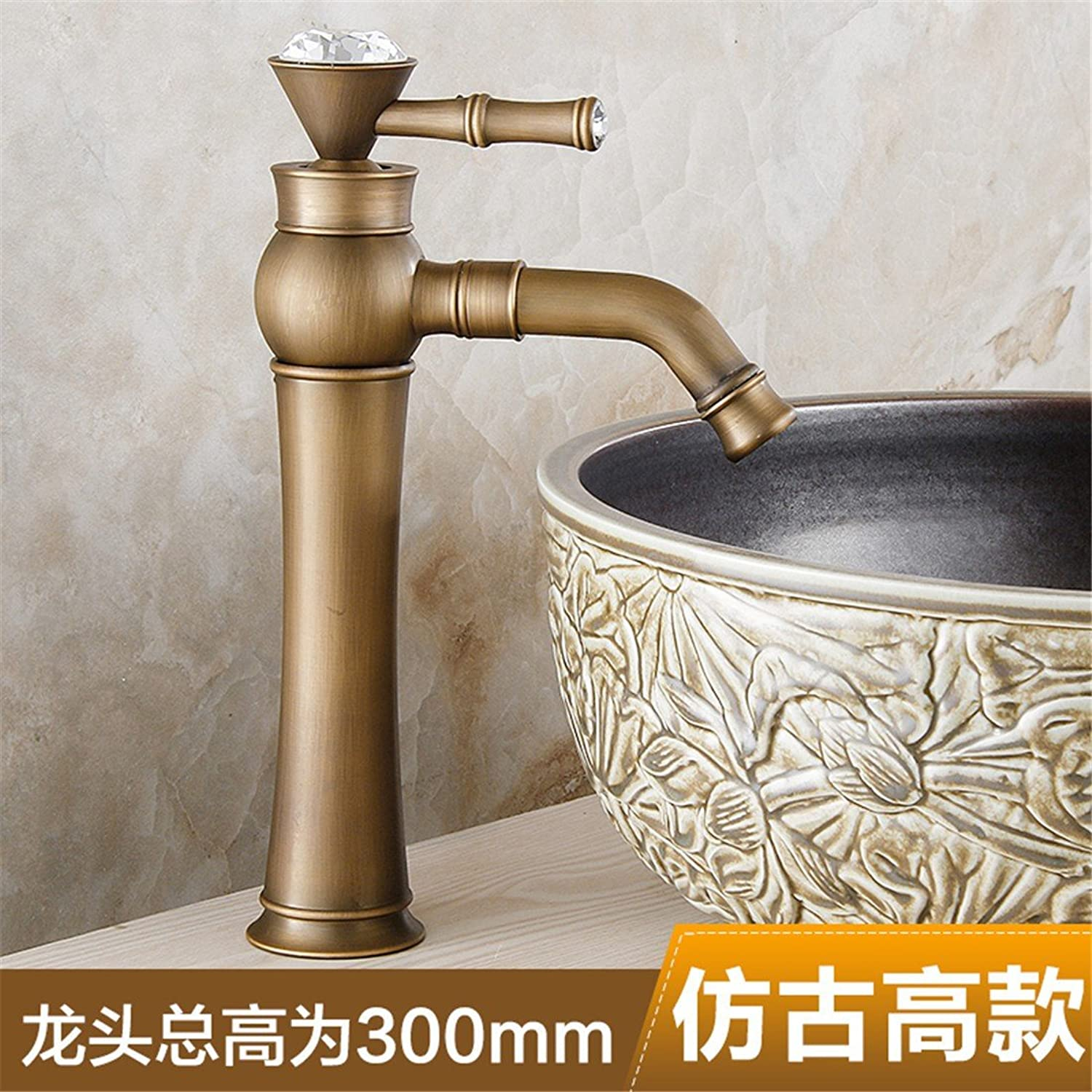 Hlluya Professional Sink Mixer Tap Kitchen Faucet The redation of the whole copper basin faucet antique bench lowered basin faucet and cold water washing your face, antique high