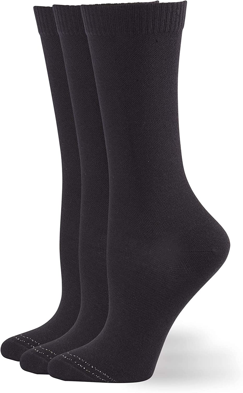 HUE womens Compression Crew Sock 3 Pair Pack