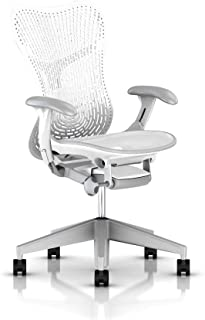 Herman Miller Mirra 2 Chair, One Size, Fog with Studio White Frame - - MRF12