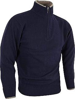 JACK PYKE Ashcombe 100% Lambswool Zip Knit Jumper