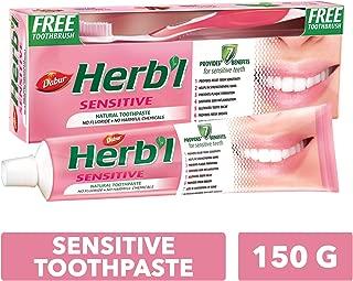 DABUR Herbal Sensitive Toothpaste, 150 gm + Brush
