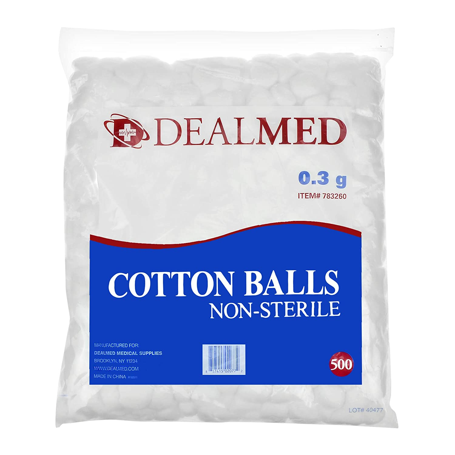Dealmed 2021 Cotton Balls Non-Sterile Ranking TOP20 Conveniently in Zip-Lock Packed