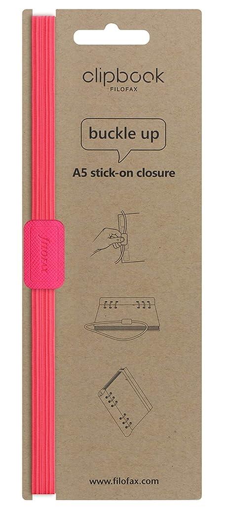 レッドデートクリケット再生的ファイロファックス クリップブック バンド クロージャー A5 ピンク 正規輸入品