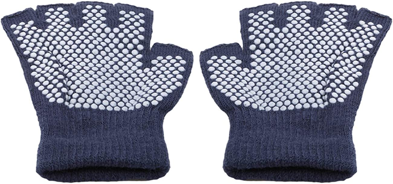 ZALING Unisex Yoga Gloves Non-Slip Fingerless Gloves Men Women Half Finger Work Out Mittens Guantes for Women