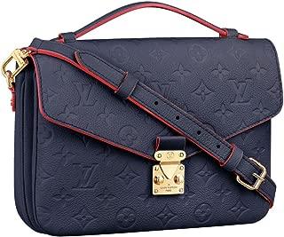 Louis Vuitton Monogram Empreinte Leather Pochette Metis Handbag Article: M44071 Made in France