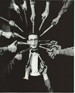 Harold Lloyd with many guns pointing at his head 8x10 Photo