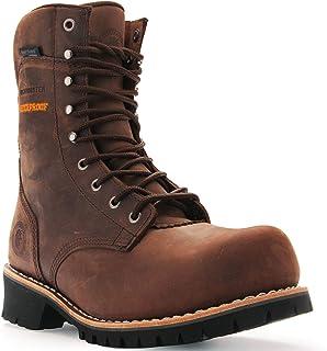ROCKROOSTER Work Boots for Men, 9'' Waterproof Logger, Composite Toe, EH, Anti-Fatigue AP155, AP156