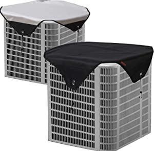 Perfitel AC Cover for Outside Units -Central air Conditioner Cover Defender-Waterproof Heavy Duty Top Air Conditioner Cover (28X28 inch)