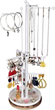 Rotating Jewelry Tower Organizer- Jewelry Tree Stand Organizer with 9 Tiers Adjustable Height Branches Display for Necklac...