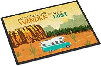 Caroline's Treasures VHA3027JMAT RV Camper Camping Wander Indoor or Outdoor Mat, 24H X 36W, Multicolor Doormat