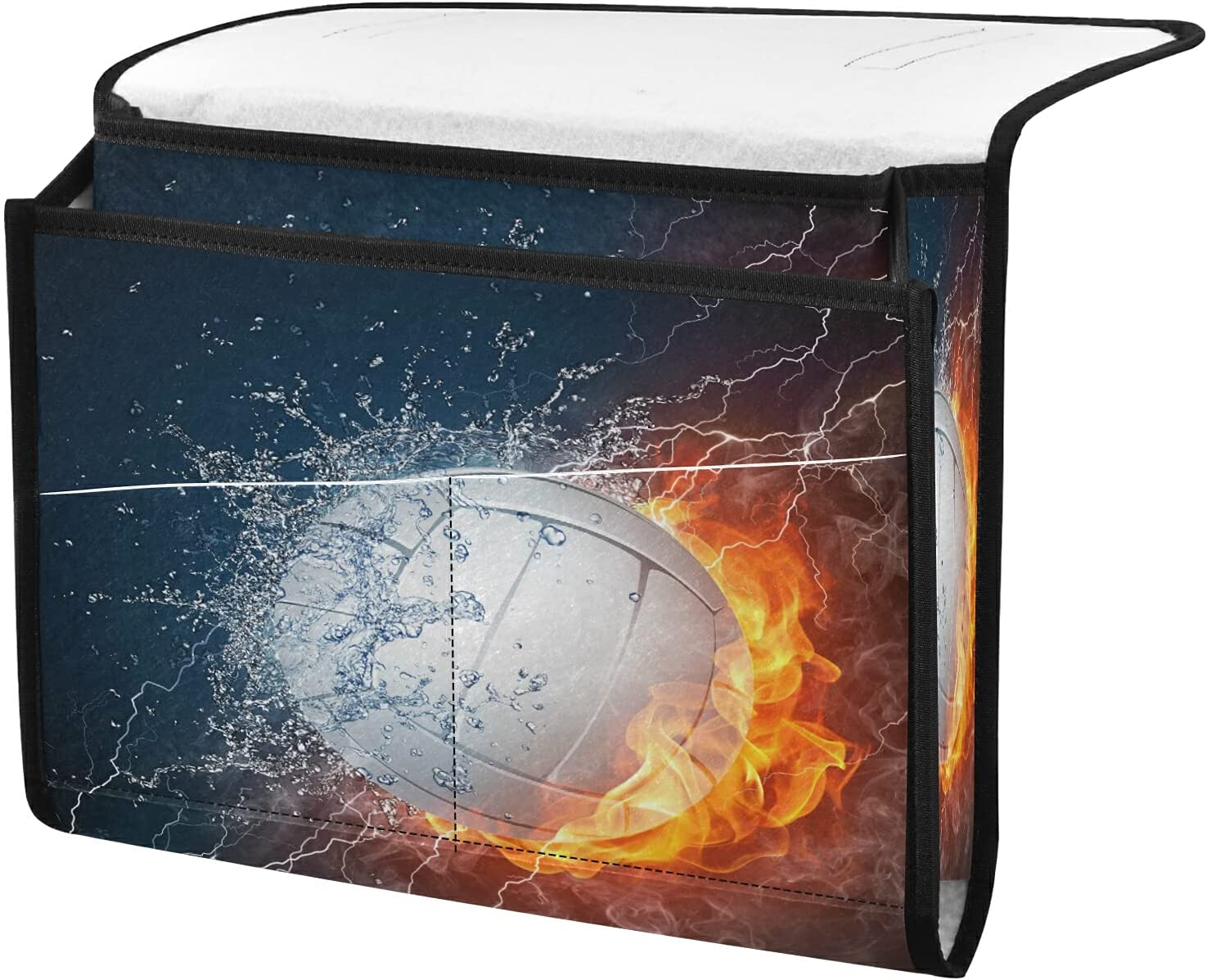 Jacksonville Mall Beauty products Bedside Storage Organizer Sport Volleyball Beside Caddy T Fire