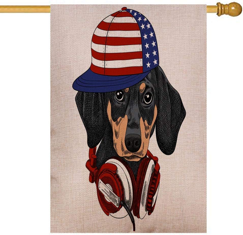 Sale item HerysTa Dachshund Garden Flag American Ranking TOP2 28X40 Burlap