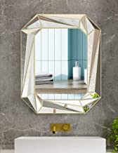 Modern Geometric Wall Mirror Art Silver Mirror for Bathroom, Bedroom, Living,Dining Room,entryway,Wall Decorative Hanging ...