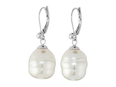 Majorica 12mm Baroque Pearl Drop Earrings (White 1) Earring