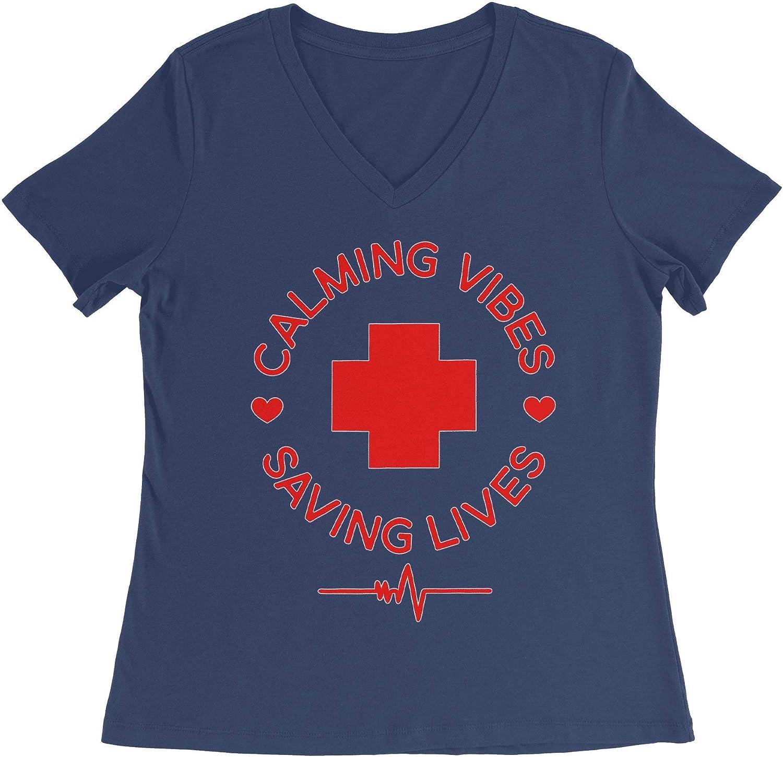 HARD EDGE DESIGN Women's Calming Vibes Saving Lives T-Shirt