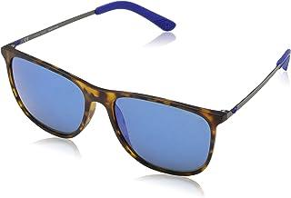 e50ec4a66f Police Edge 5 Gafas de sol, Multicolor (Havana Rubberized), 57 para Hombre
