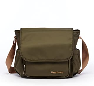 HC Army Green Diaper Bag Crossbody Purse Gender Neutral Diaper Bags for Moms and Dads Medium Size Baby Bags Dude Messenger Diaper Bag Mommy Bag