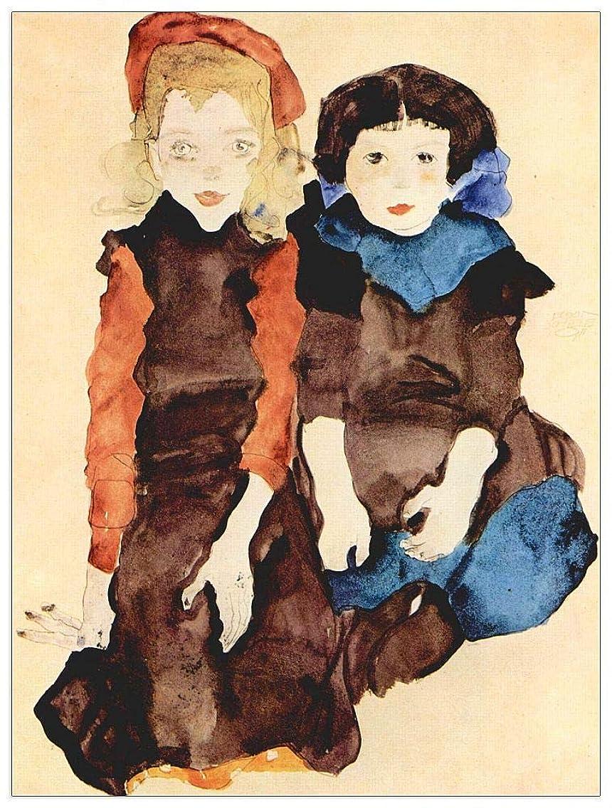 ArtPlaza TW91448 Schiele Egon-Girls Decorative Panel, 27.5x35.5 Inch, Multicolored