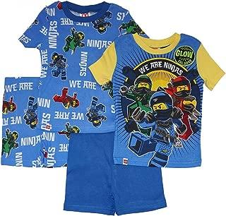 LEGO 男孩 Ninjago 4 件套睡衣,2 件套,袖子,长裤