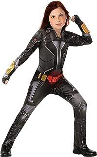 Rubie's Girl's Marvel Studios Black Widow Movie Deluxe Costume, Black Suit, Medium