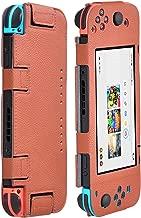 Findway Case for Nintendo Switch Case, Premium PU Leather Cover Case for Nintendo Switch Accessories (Brown)