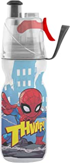 O2COOL oficial arcticsqueeze Insulated Mist 'n Sip Squeeze Bottle 12oz, Spiderman