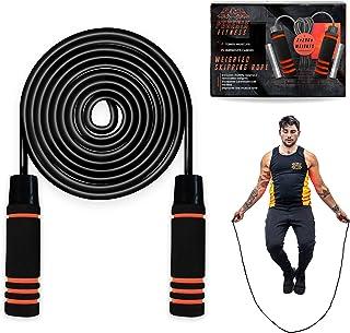 Phoenix Fitness Gewogen springtouw - 2 x 200 g Gewichten Jump Rope - Jumping Tangle-Free Rope - Gewogen touw voor vetverbr...