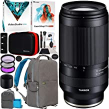 Tamron 70-300mm F/4.5-6.3 Di III RXD Lens A047 Sony E-Mount Full-Frame and APS-C Mirrorless Cameras Telephoto Zoom Bundle with Deco Gear Photography Backpack + Software Kit + Filter Set + Accessories