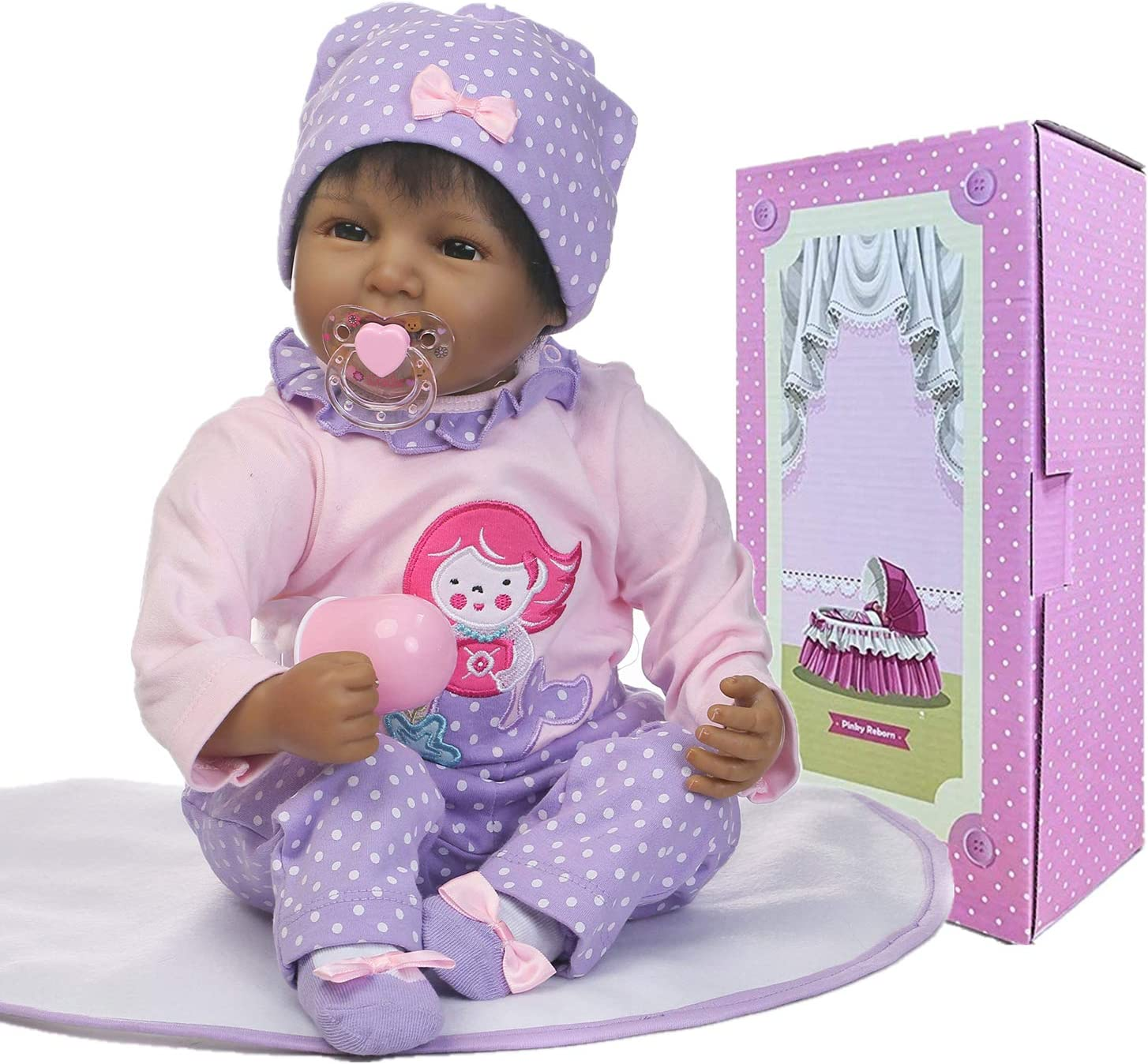 African American Reborn Baby Dolls Girl Weighted Fees free 70% OFF Outlet Handm Realistic