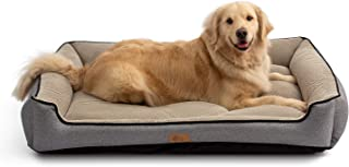 AcornPets B-1503 Deluxe Grey Color Extra Large Dog Bed Cat Pet Pillow Fleece 120 x 90 CM For XL Large Dogs, Using Premium Polyester Fiber and High Count Cotton Fabric, Detachable and Washable