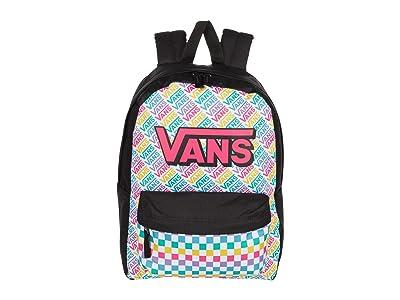 Vans Kids Realm Backpack (Big Kids) (Multi Check) Backpack Bags