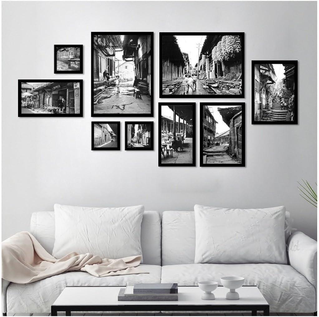 Amazon.de: Bilderrahmen Collage Set von 10 Schwarz-Weiß-alte Bild