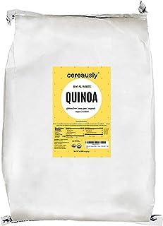 CEREAUSLY Organic White Quinoa in Bulk | 10 Lb | Restaurants | Wholesale | Bolivian | Royal | NON-GMO | Kosher | Gluten-Fr...