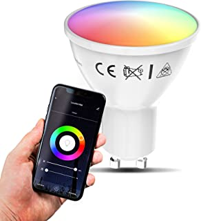 B.K.Licht I Smart lamp I smart light I LED WiFi lamp I GU10 lichtbron I RGB en CCT I voice control I bulb I slimme lichtbr...