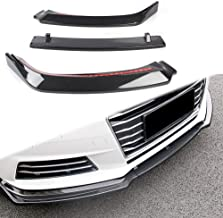 Newsmarts 3pcs Front Lower Bumper Lip Spoiler Splitter Diffuser for Audi A4 2017 2018, Carbon Fiber