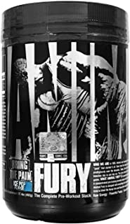 Animal Fury - Pre Workout Powder Supplement for Energy and Focus - 5g BCAA, 350mg Caffeine, Nitric Oxide, Without Creatine - Powerful Stimulant for Bodybuilders - Ice Pop - 30 Servings