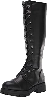 Dirty Laundry by Chinese Laundry Women's Vandal Combat Boot, Black Smooth, 6 M US