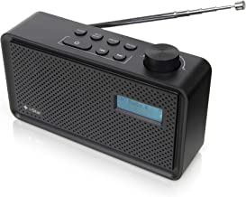 DAB/DAB+ Digital & FM Radio, Rechargeable Battery and Mains Powered DAB Radios Portable Digital Radio with USB Charging