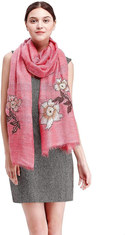 Wool Pashmina Embroidered Scarf Womens Fashion Long shawl Winter Blanket Wrap