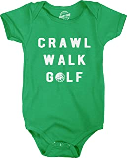 Creeper Crawl Walk Golf Baby Bodysuit Funny Sports Baby Shirt