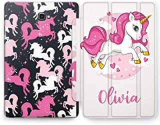 Wonder Wild Pink Unicorn Samsung Galaxy Tab S4 S2 S3 Smart Stand Case 2015 2016 2017 2018 Tablet Cover 8 9.6 9.7 10 10.1 10.5 Design Cover Personalized Girly Kids Glitter Bright Cute Cartoon Narwhal