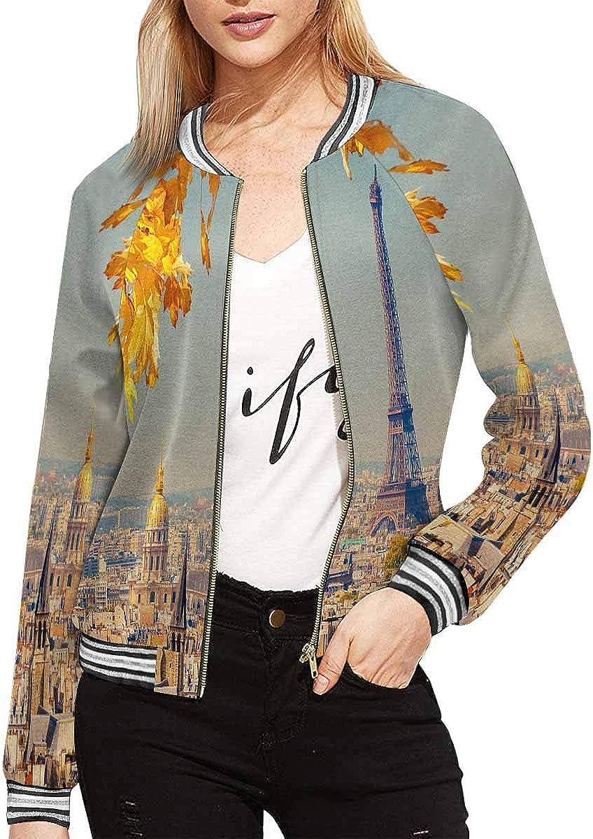 InterestPrint Women's Jacket Long Sleeve Zipper Outwear