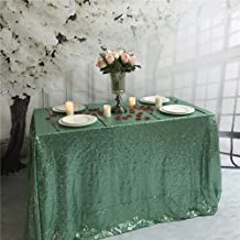 TRLYC Sequin Tablecloth-60x126-Inch-Mint Rectangular Sequin Fabric