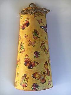 teja decorativa en color amarillo con mariposas