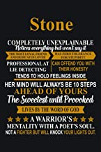 Stone Completely Unexplainable Girl First Name: Lined Notebook / Journal Gift, 120 Pages, 6 x 9 inches, Stone Family Gifts...
