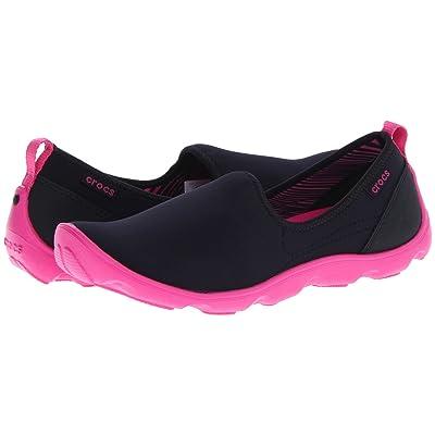 Crocs Duet Sport Skimmer (Black/Fuchsia) Women