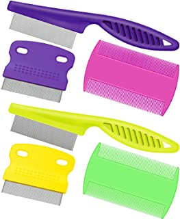 6 Pieces Pet Lice Combs Dog Grooming Flea Comb Cat Tear Stain Comb for Removal Dandruff,..