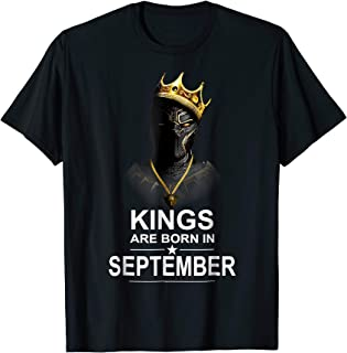 Kings Are Born In September Gift Shirt For Panther's Lover